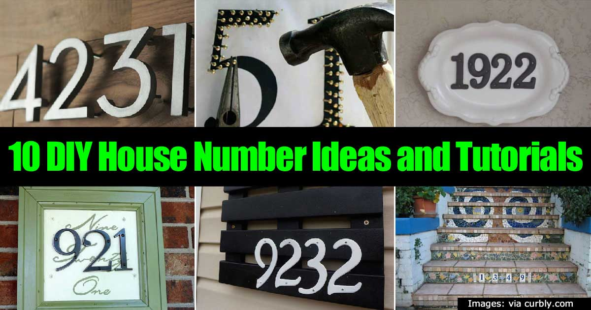 10 House Number Ideas And Tutorials For The DIY'er