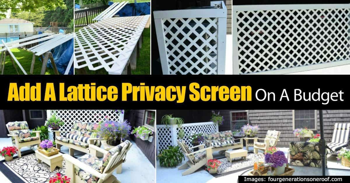 How To Make A Lattice Privacy Screen On A Budget