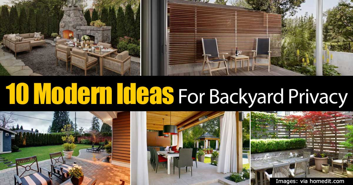 10 Modern Ideas For Backyard Privacy