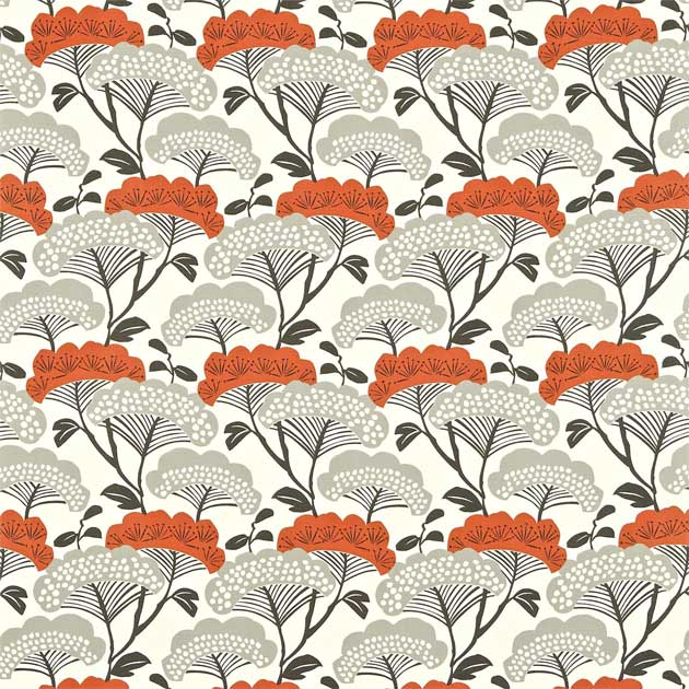 Tree tops botanical fabric