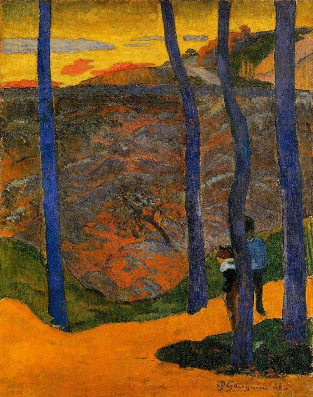 Gaugin blue trees