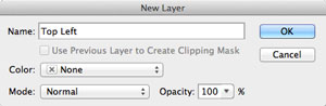 Name layer photoshop