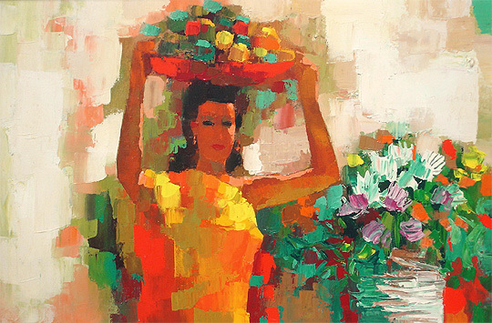 Nicola Simbari Girl in Yellow 1964