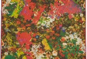 Vivienne Westwood Pink Bouquet Silk Scarf
