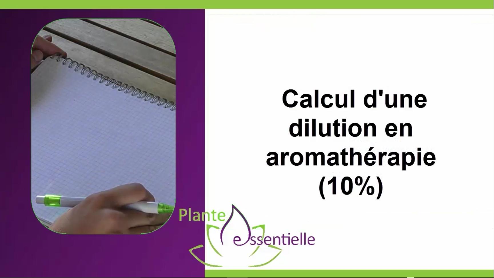 Calcul de dilution en aromathérapie