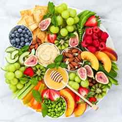 Finished vegetarian snack board