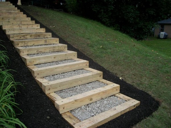unique landscaping timber projects