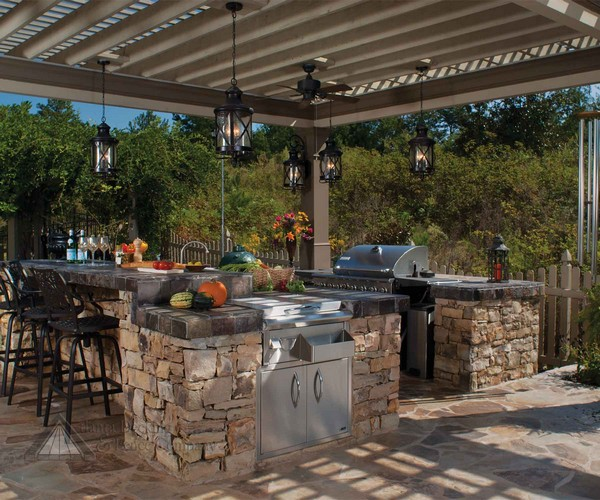 diy outdoor kitchen plans cast iron undermount sink 31 amazing ideas planted well kitchens designs with pergolas