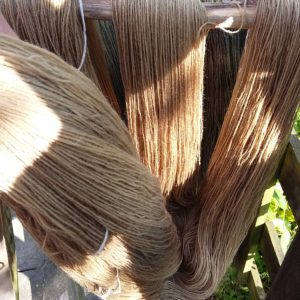 garn farvet med almindelig syre