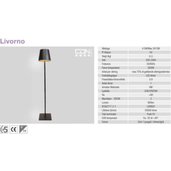 udendørs lamper til terrassen datasheet