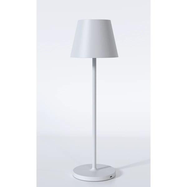 Hvid Bordlampe med batteri og USB