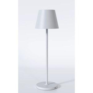 Transportabel trådløs hvid bordlampe – dæmpbar