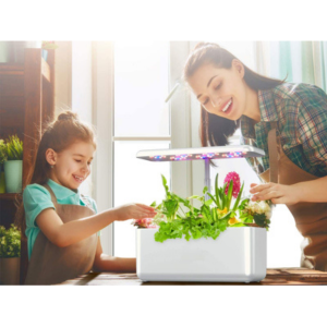 Indendørs køkkenhave u/jord m. fuldspektrum vækstlys 20W LED