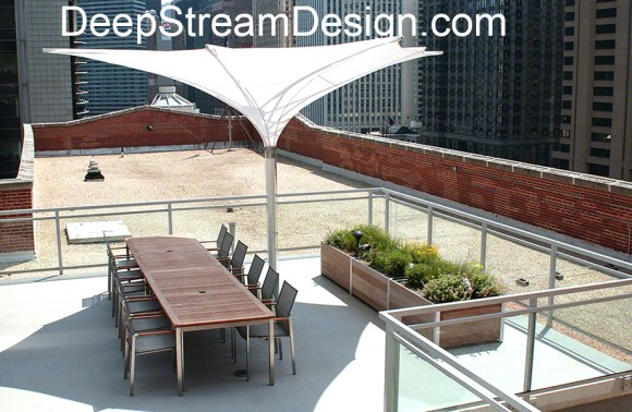 Long Wood Planters for for a rooftop herb garden