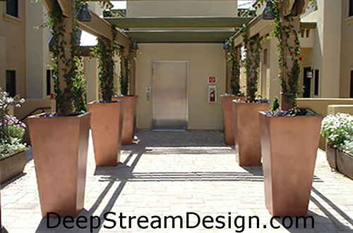 Click for a link to DeepStream's Desktop Website for more info on Fiberglass Urban-Tall Garden Planters