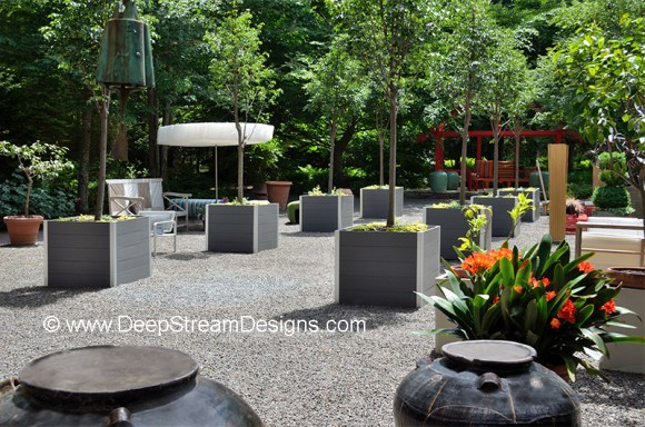 Landscape Architects large recycled plastic planter for trees