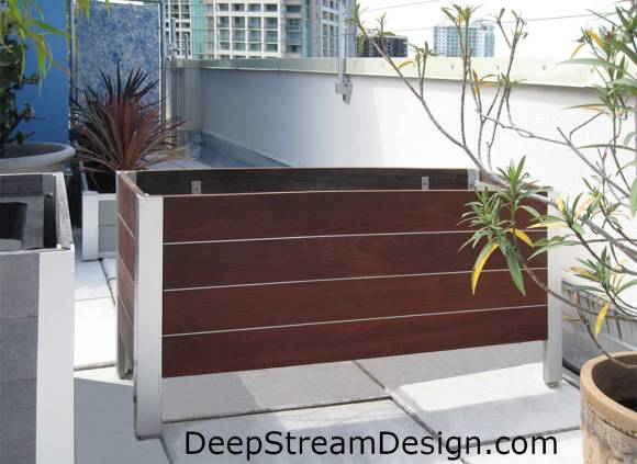 DeepStream 7 year old refinished planter back in place