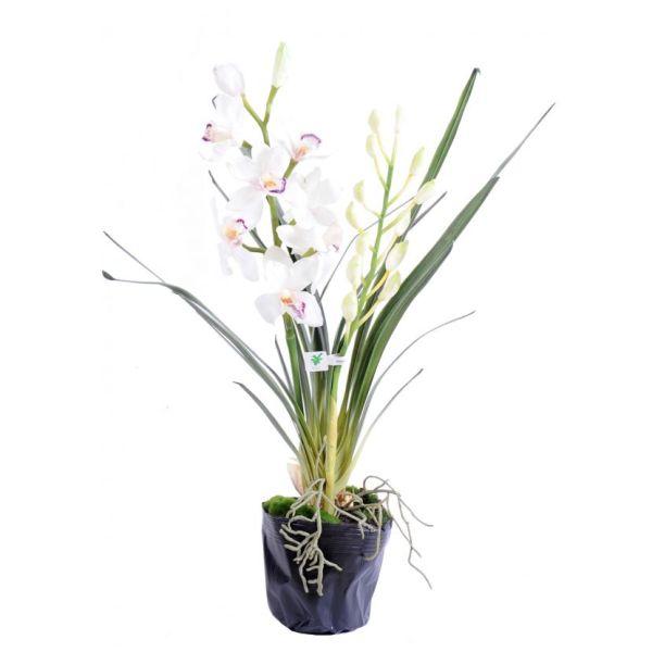 cymbidium plante 80 cm fleurs artificielles