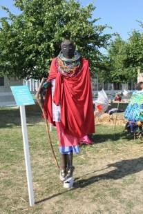 Maasi warrior scarecrow