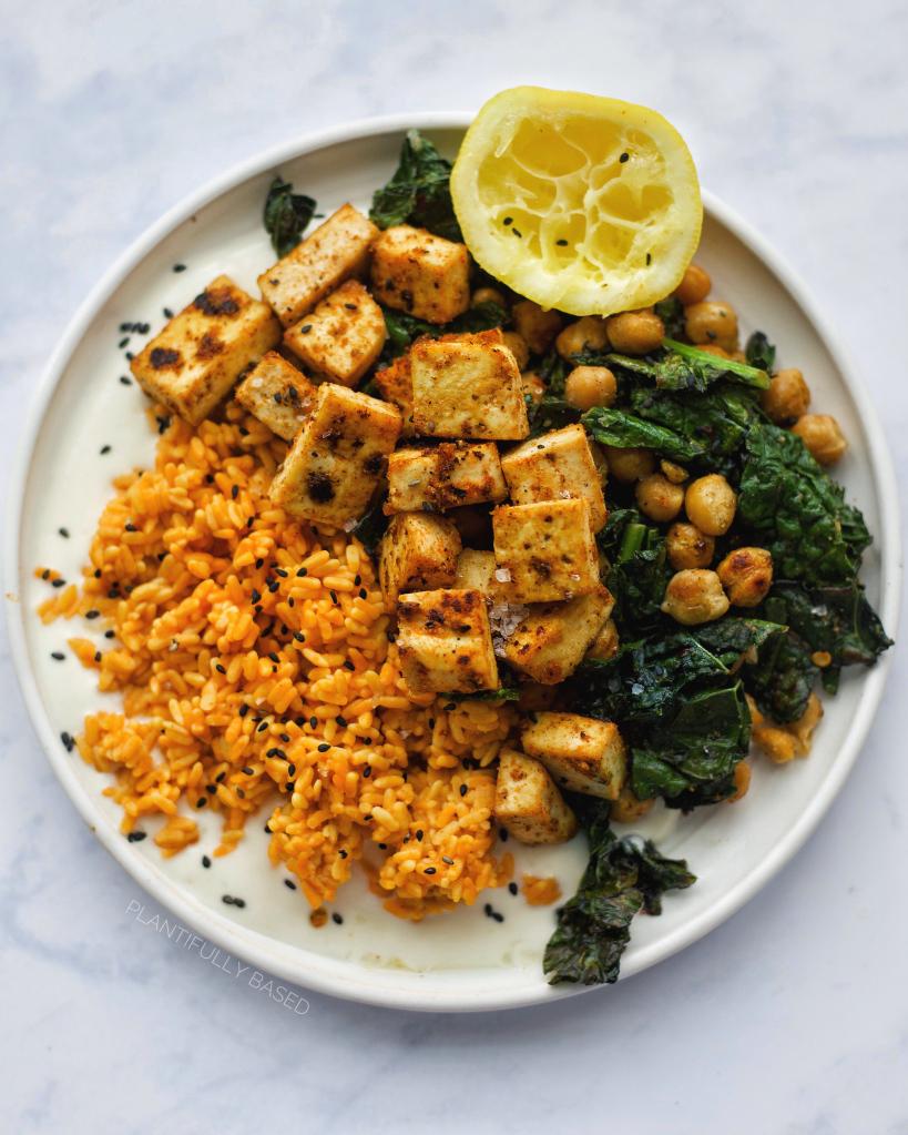 Tofu & Chickpea Salad