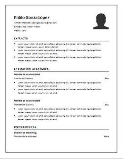 Curriculum Vitae Ejemplos Otros Datos De Interes Sample Cv English Resume