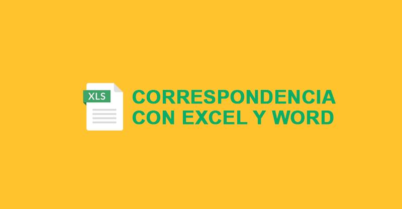 Correspondencia en Excel