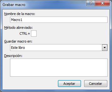 Crear una macro automática en Excel