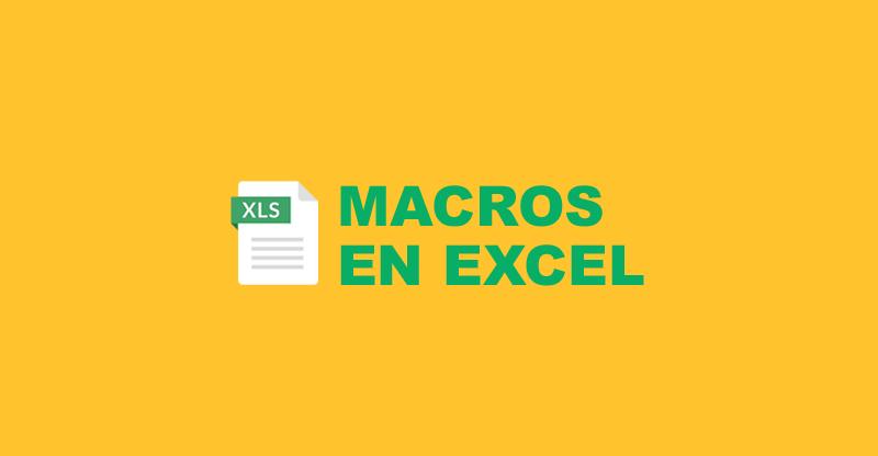 Macro de Excel: qué es esta acción