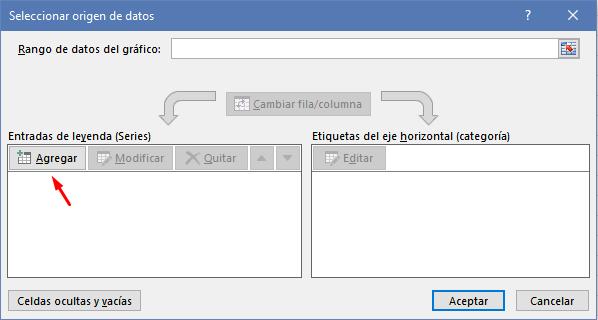 Agregar datos al gráfico de Excel