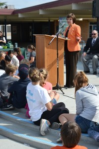 """CDFA Secretary Karen Ross thanked the students for becoming """"citizen scientists"""" who can help protect California from invasive species."""