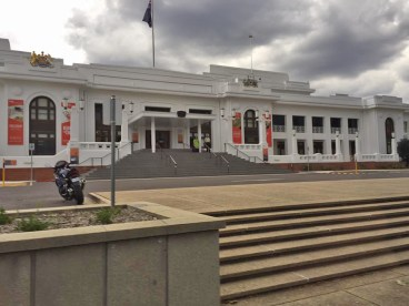 Old Parliament House in Canberra, Australia. Once the seat of Parliament, it has served as a museum in recent years.