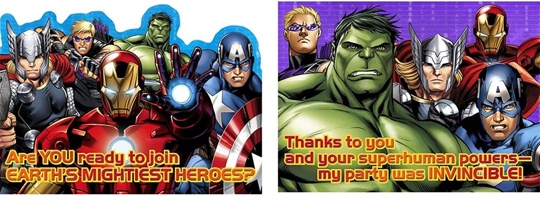hallmark party marvel avengers assemble invitation thank you cards