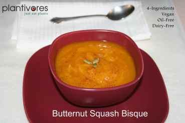 4-Ingredient Butternut Squash Bisque
