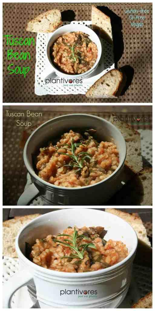 Tuscan Bean Soup   Vegan, Oil-free, Gluten-free   Plantivores