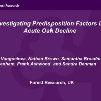 Investigating predisposition Factors in Acute Oak Decline
