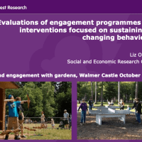 Evaluations of engagement programmes and interventions focused on sustaining or changing behaviours