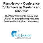 Volunteer Rights Enquiry and Charter for Strengthening Relations Between Paid Staff and Volunteers