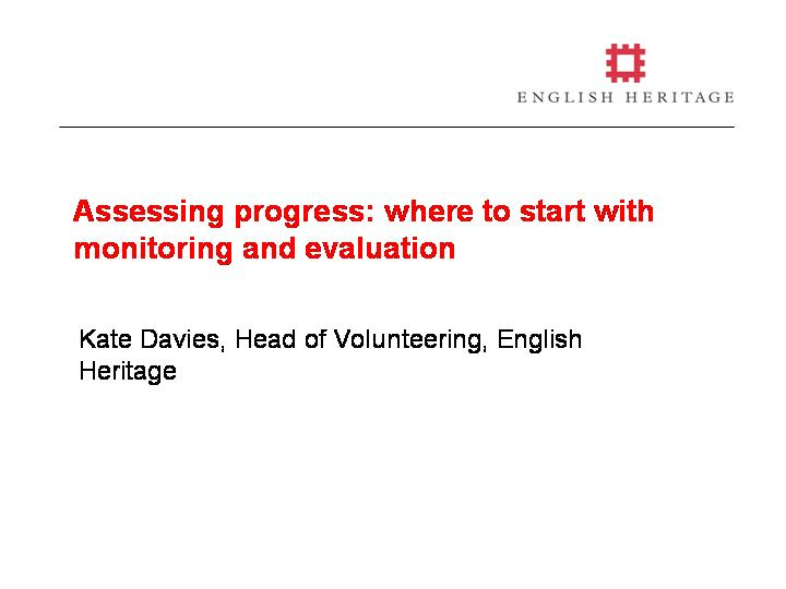 Assessing Progress Where To Start With Monitoring And Evaluation