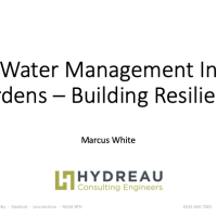 Water management in gardens