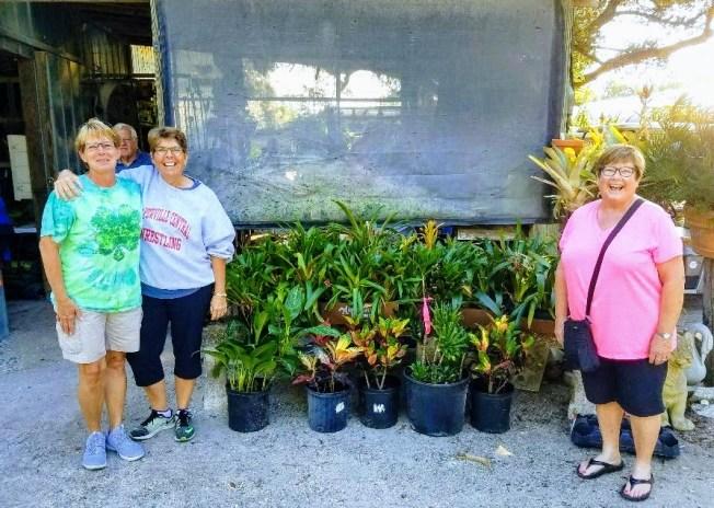 Women enjoy Plant Sale