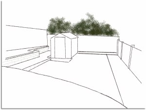 shed-down-slope-line-drawin