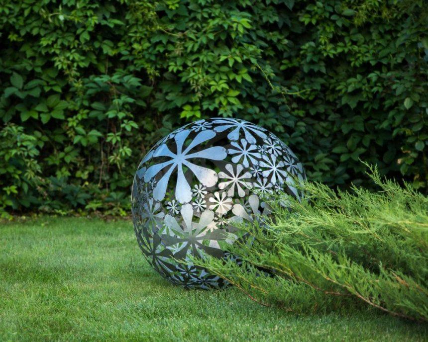metal sculpture flower cut out metal garden art