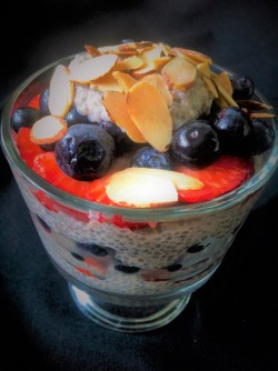 Chia Berry Almond Parfait - Healthy, Plant-Based, Dairy-Free, Oil-Free, Gluten-Free, Easy, Vegan Breakfast Recipe