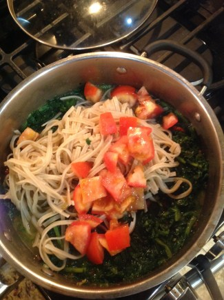 Fresh tomatoes and frozen spinach help bring this dish together for classic Italian flavor