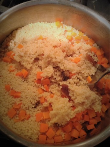 The couscous is done cooking in just a few minutes. This healthy whole-grain is great for quick weeknight meals