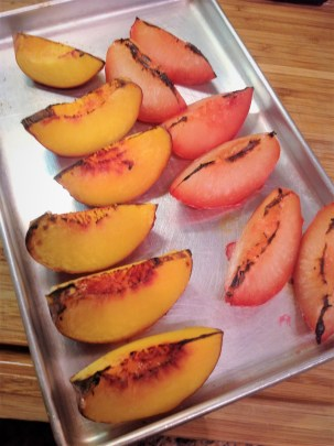 Cut the fruit into large wedges and broil for a fell minutes for a naturally sweet flavor.