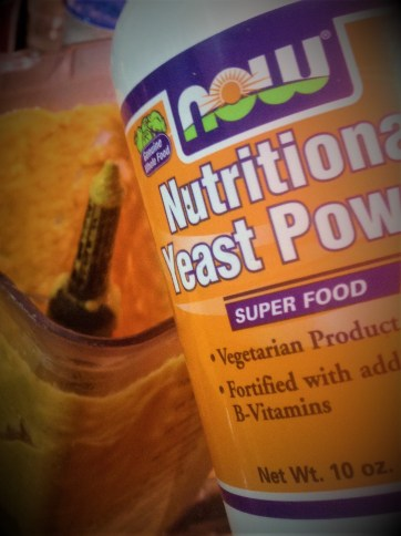 Nutritional Yeast has rich, cheese-like flavor, replacing the dairy cheese typically used in this vegan recipe