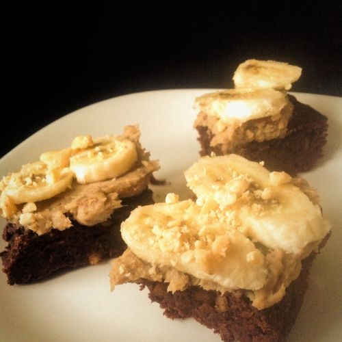 Chocolate Monkey Bars with Peanut Butter Banana Frosting - Healthy, Plant-Based, Oil-Free, Date Sweetened, Whole Wheat Vegan Baking Dessert Recipe from Plants-Rule
