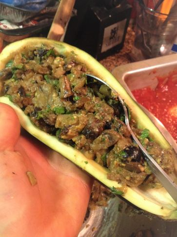 Extra Stuffing Uses: You can make a double-batch of the mushroom olive stuffing mixture and freeze extras. You can use it as a stuffing for other vegetables, like zucchini, tomatoes, or Portobello mushroom caps