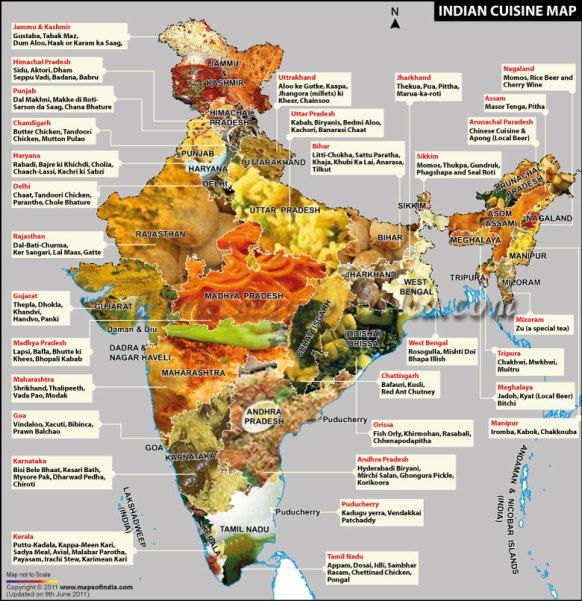Indian+Cuisine+Food+Map
